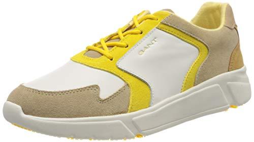 GANT Footwear Damen COCOVILLE Sneaker, Mehrfarbig (Br.Wht./Beige/Yellow G294), 38 EU