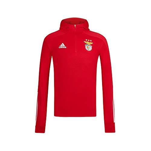 adidas SL Benfica Red Hooded Sweater 2020-21 - Felpa per Bambini, Unisex, Unisex - Bambini, LJ05194, Rosso, 128