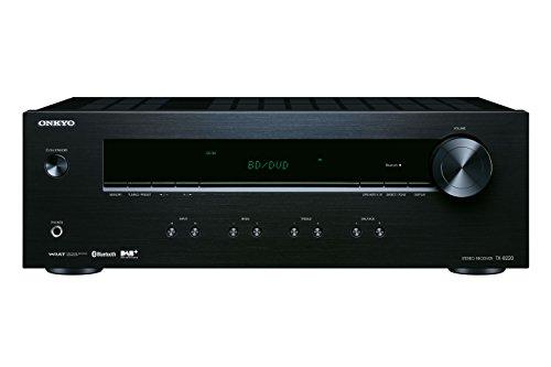 Onkyo TX-8220(B) stereo receiver (Hifi versterker 100 W/kanaal, multiroom, Bluetooth, streaming, DAB+/FM/RDS-radio, MM-Phono-voorversterker voor platenspelers), zwart