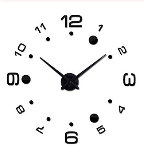 Wandklokacryl Spiegel Wandklok Groot Quartz Horloge Stilleven Ronde Klok Woonkamer Europese Huisdecoratie Sticker