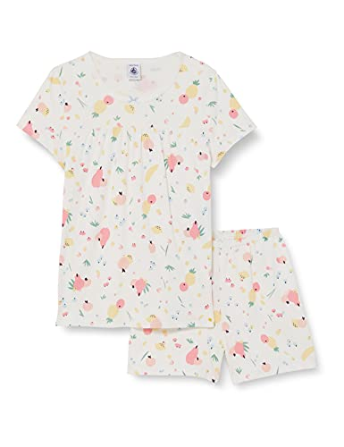 Petit Bateau 5997301 Pajama Set, Marshmallow/Multico, 12 Ans Girls