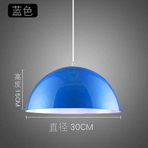 FICI Moderne minimalistische creatieve kroonluchter lampenkap café danszaal kantoorcafés hoofd kroonluchter accessoires, blauw
