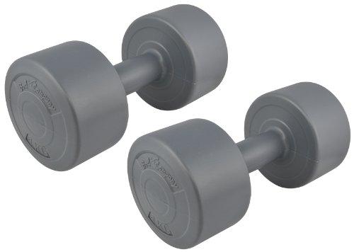 Bad Company Rundhanteln I Kunststoff Hanteln I 2er Set Gymnastikhanteln 4 Kg (8 Kg)