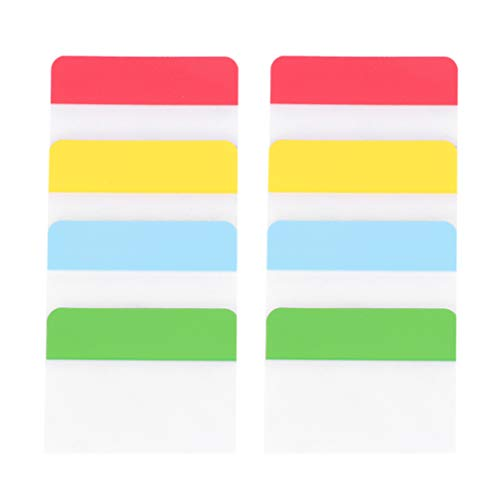 NUOBESTY 2 juegos de pestañas de índice cinta bandera dispensadores adhesivo Page Makers Sticky Notas para carpetas, cuadernos, libros, archivos, carpetas, suministros de oficina escuela