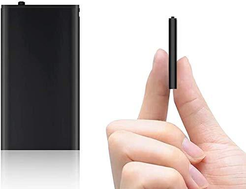 Mini Digitales Diktiergerät |16GB Audio Aufnahmegerät mit Stimmenaktivierung |192Stunden | One-Touch-Aufnahme | MP3 | Aufnahmegerät für Vortrag, Vorlesung, Interview, Meeting usw