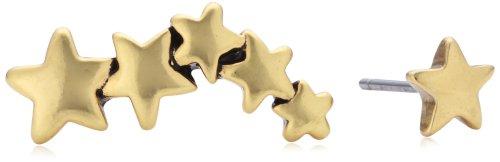 Pilgrim Jewelry Damen-Ohrstecker aus der Serie Classic vergoldet 2.0 cm 601312053