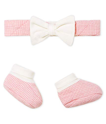 Petit Bateau Baby-Mädchen Bandeau + Chaussons_5019100 Bekleidungsset, Mehrfarbig (Variante 1 00), 56 (Herstellergröße: 1M/54cm)