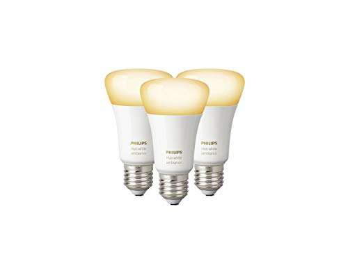 Philips Hue Lot de 3 Ampoules connectées White Ambiance E27 - Fonctionne...