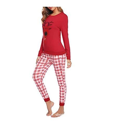 MILASIA Damen Schlafanzug Lang Winter Pyjama Set Baumwolle Langarm Nachtwäsche...
