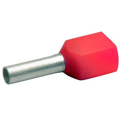 100 Stück 2x 10 mm² TWIN-Aderendhülsen isoliert rot von powerpreis24de