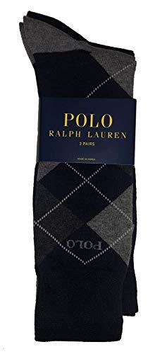 Polo Ralph Lauren Herren Socken, 3 Paar, Argyle/Solid Multi, Größe 38-47 (Schuhgröße)