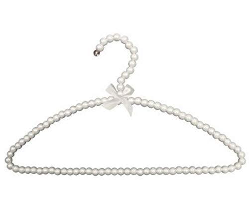zhaoyangeng 5 st/paket 39 cm vuxen bågformade pärlhängare med halkfria klädhängare sparar utrymme för ditt hem@vit