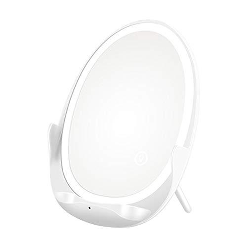FDSJKD Espejo inalámbrico ferozado Cargador inducción de inducción para teléfonos ES 11 x XR XS 8 Teléfono Celular S20 NOET 20 S10 S9 Mujeres (Plug Type : HBWC006 White)