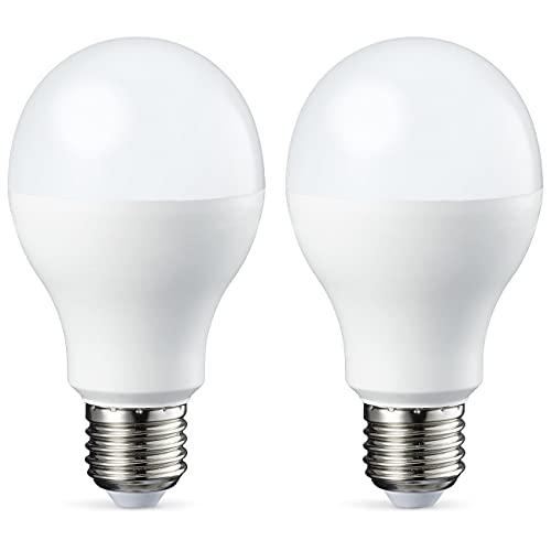 Amazon Basics E27 LED Lampe, 14W (ersetzt 100W), kaltweiß, 2er-Pack