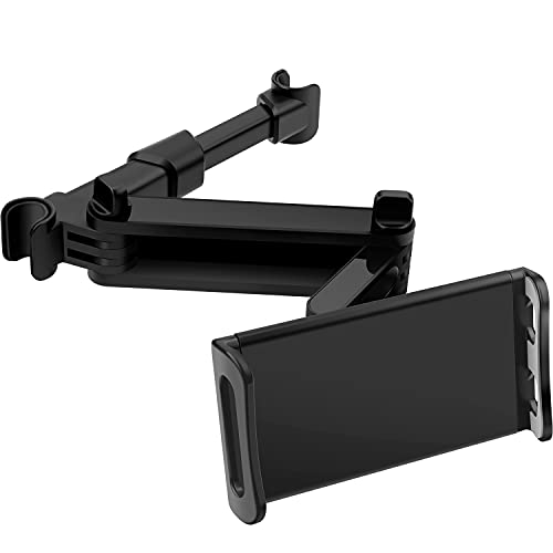 Tablet Halterung Auto,POOPHUNS KFZ-Kopfstützen Tablet Halterung, 360 Grad Drehung,Einfache Installation,Universal für iPad iPhone Serie/Samsung Tab/Nintendo Switch und die Meisten 4,4-11 Zoll Tablets