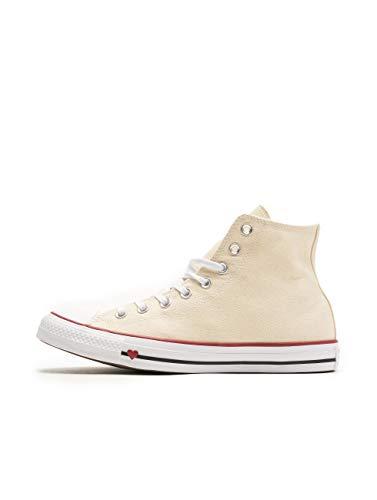 Converse Unisex-Erwachsene Chuck Taylor All Star Hohe Sneaker, Weiß (Natural/White/Garnet 000), 39 EU
