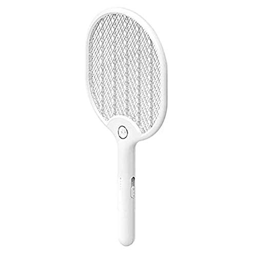 HJQL Raqueta Repelente De Mosquitos Eléctrica, Iluminación Led Recargable por USB, Tres Capas De Protector De Malla Que Mata Mosquitos/Moscas/Insectos
