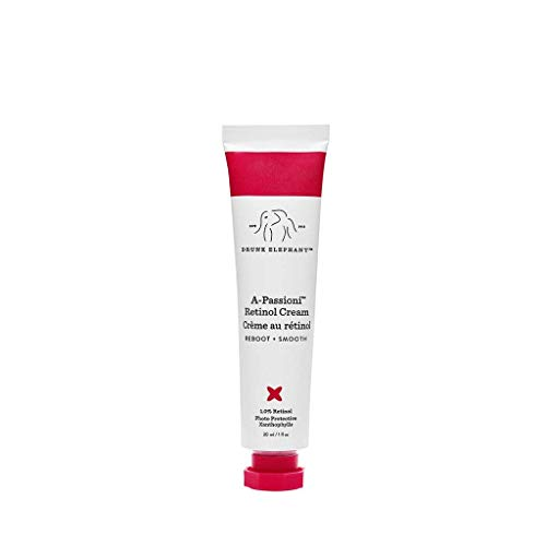 Drunk Elephant A-Passioni Retinol Anti-Wrinkle Cream. Brightening, Restorative and Vegan Face Cream with Vitamin F. 1 Ounce.