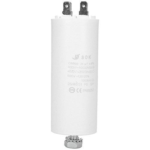 ?WESSPER Condensador del motor para motor del acondicionador de aire refrigeradores lavavajillas Franke 25uF 450