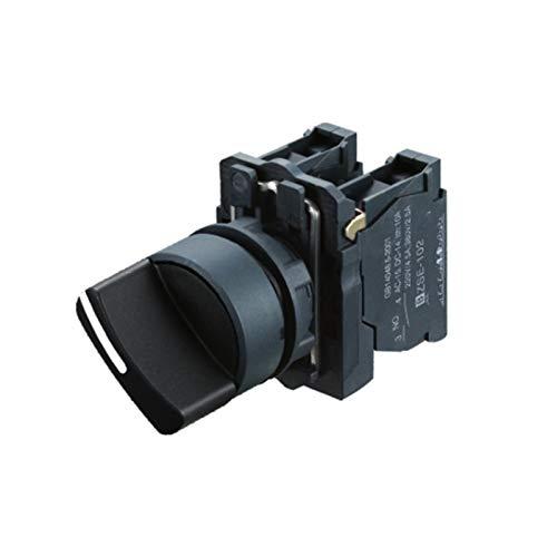 WHBGKJ Interruptor Giratorio Interruptor de selector Impermeable Manilla Interruptor Giratorio Interruptor de la Perilla Dos o Tres Posiciones Manija estándar SB5 (LA68S XB5) -AD25 22mm