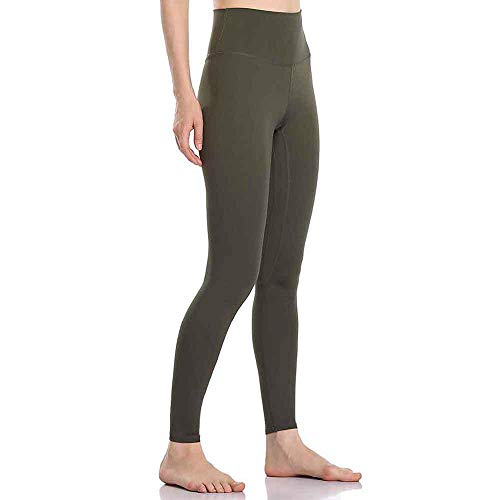 4-way stretch yoga-legging,Legging met hoge taille buikbroek, fitness yoga joggingbroek-groen_groot,Yogabroek extra zachte legging met zakken voor dames