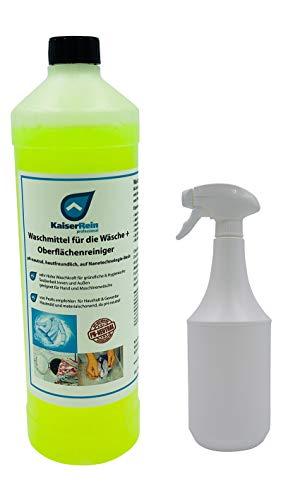 Vorwaschspray Konzentrat Waschmittel für Vorwäsche oder Waschmittel Verstärker Fleckenentferner + Sprühflasche Fleckenspray Fleckenmittel