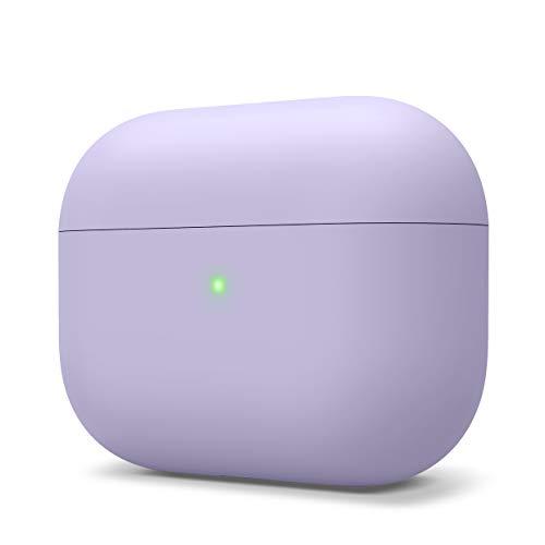 elago Liquid Hybrid Silikon Hülle entwickelt für Apple AirPods Pro Ladecase – Dreischichtige Struktur : Voller Schutz, LED Sichtbar, Hochwertiges Silikon Schutzhülle für AirPods Pro Hülle (Lavendel)
