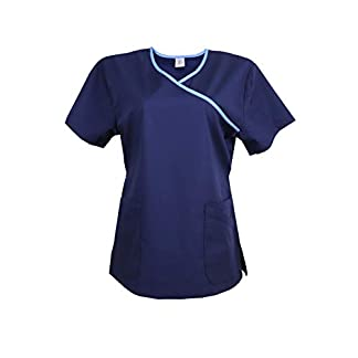 JONATHAN UNIFORM Camisa Médica con Cuello en Y para Mujeres Uniforme Medico Mujer Camisa de Uniforme de Hospital Scrub Top