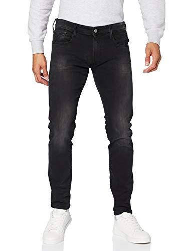 Replay Herren Anbass Jeans, Black, 3334