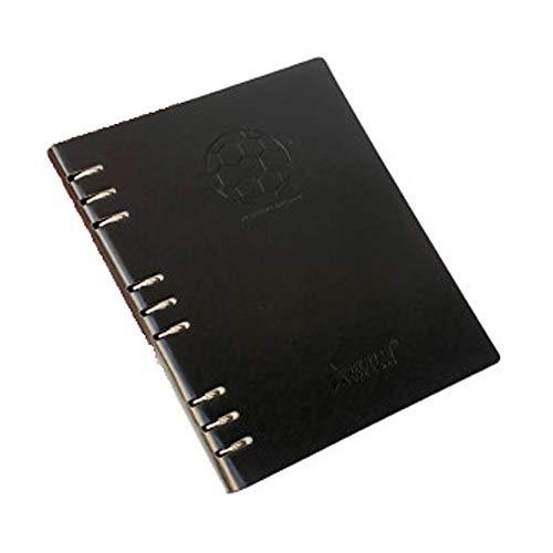 GJJSZ Cuaderno de Entrenamiento de fútbol,Adecuado para la enseñanza y el diseño táctico de Entrenadores de fútbol Material de Entrenamiento de fútbol Cuero Artificial un Total de 123 páginas