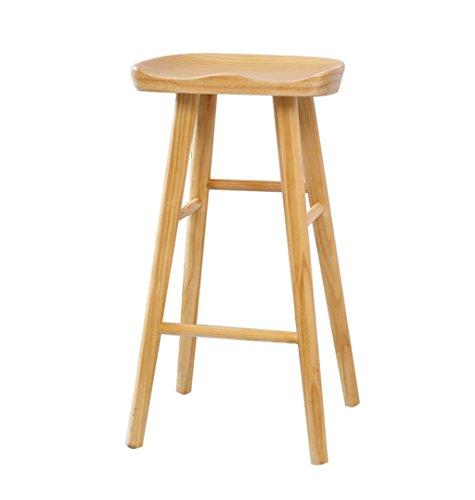 ZRXian-Taburetes Wood High Stool Bar cocinas Dining Chair Breakfast Stool | Bar Chair Tall Stool Counter Chair Vintage Retro Barstool Design (Tamaño : 65cm)