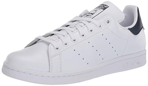 adidas Originals Women's Stan Smith Sneaker, Footwear White/Footwear White/Collegiate Navy, 7.5
