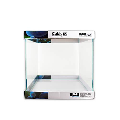 Blau aquaristic Aquascaping Cubic 90, 64 oder 42 Liter - Weißglas Aquarium (42 Liter)