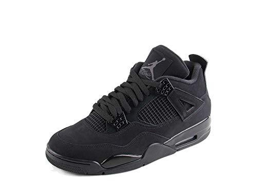 Nike Herren Air Jordan Retro Black Cat Black Black Black LT Graphit Synthetik Gr., Schwarz (Schwarz/Schwarz-Lt Graphit), 45 EU