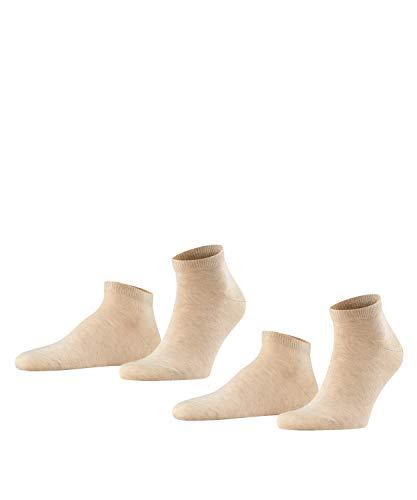 FALKE Herren Happy 2-Pack M SN Socken, Beige (Sand Melange 4650), 39-42 (2er Pack)