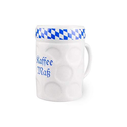 """Bavariashop Tasse\""""Kaffee-Maß\"""", Stilechte Kaffee Tasse aus Bayern, Zünftige Geschenkidee"""