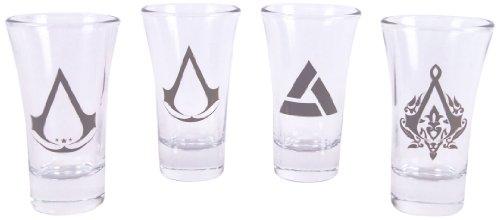 Assassins Creed Shotglasses Set bestehend aus 4 Gläsern