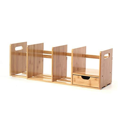 YBWEN-OSB Aufbewahrungsbox für Büromaterial Schreibtisch-Organizer-Tablett mit 1 Schublade verstellbares Fach mit Schublade Ablagekorb (Farbe : Wood, Size : 500x200x185mm)
