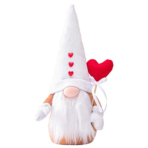 MezoJaoie Día de San Valentín Conejito de Pascua Gnomo Gnomos de Primavera Vacaciones de Pascua Decoración del hogar Gnomo Felpa Conejo Hecho a Mano Regalos Sueco Tomte Elf…
