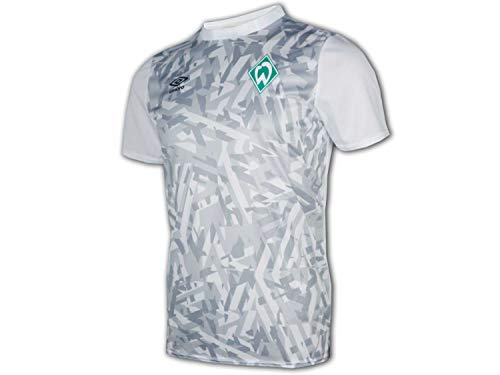UMBRO SV Werder Bremen Warm Up Jersey weiß SVW Fußball Junior Fan Shirt Club, Größe:152