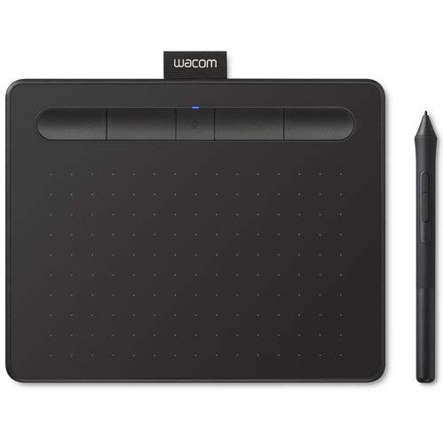 Wacom Intuos CTL4100WLK0 Wireless Graphics Drawing Tablet with 3 Bonus Software Included, 7.9' x 6.3', Black (Renewed)