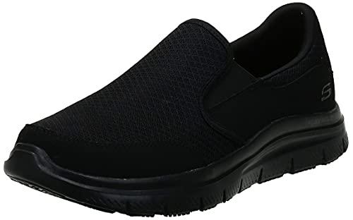 Skechers Men's Black Flex Advantage Slip Resistant Mcallen Slip On - 10 D(M) US
