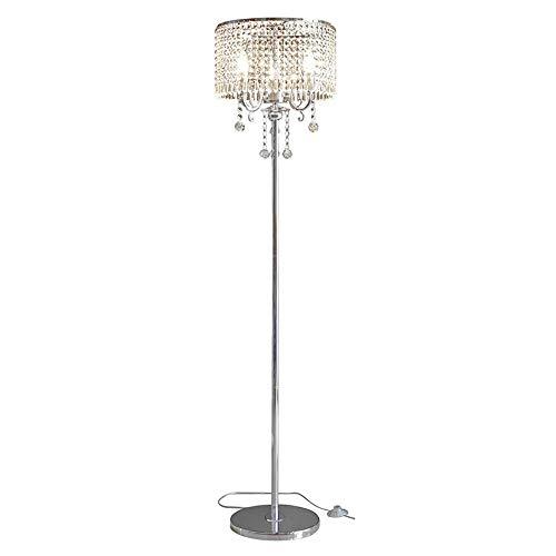 Cxwcy Neue Europäische Moderne Stehleuchte Romantische Dimmen LED Shop Stehleuchte Wohnzimmer Einfache K9 Kristall Stehleuchte Schlafzimmer Nachttischlampe Stehlampe
