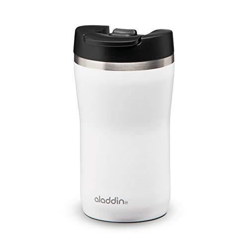 Aladdin Barista Café Thermavac Leak-Lock Stainless Steel Travel Mug 0.25L White – Auslaufsicherer Becher - Doppelwandige Vakuumisolierung - Hält bis zu 2,5 Stunden Heiß - BPA-Frei - Spülmaschinenfest