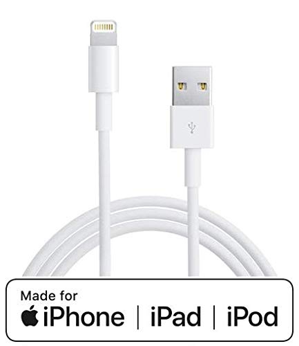 Cavo per iPhone iPad compatibile Apple con Connettore Lightning a USB Cavo per sincronizzazione Dati e Ricarica per iPhone iPad compatibile (Cavetto 100 cm)