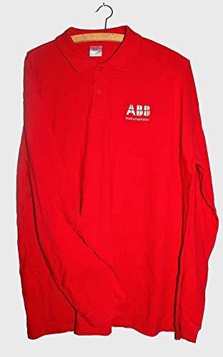 Longsleeve-poloshirt poloshirt poloshirt maat XXL shirt met lange mouwen rood katoen