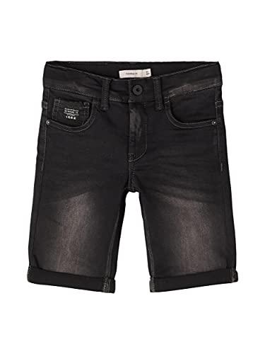 NAME IT Jungen Denim Long Shorts mit Taschen Black Denim 158