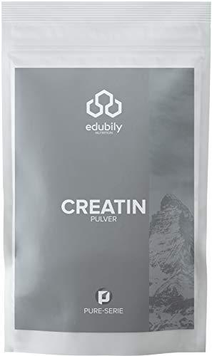 edubily® Creatin Pulver mit Creapure® • Reines Kreatin Monohydrat aus Deutschland • 250 g im Beutel zu 100% recyclingfähig