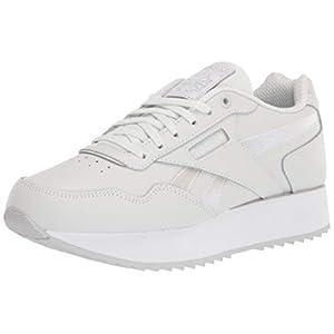 Reebok Women's Classic Harman Ripple Double Sneaker, True Grey/White/White, 7.5