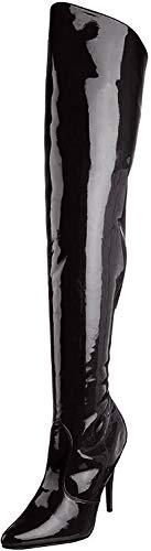 Pleaser SEDUCE-3010 Damen Langschaft Stiefel, Schwarz (Blk Pat), 43
